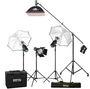 Britek Flash Light Kit with Boom - total kit 576 wt.