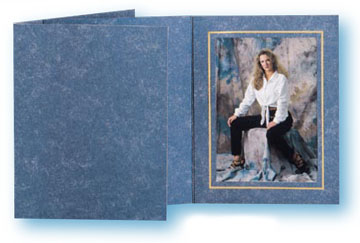 TAP Capri Heather Blue Photo Folder  For a 10x8 Picture (...
