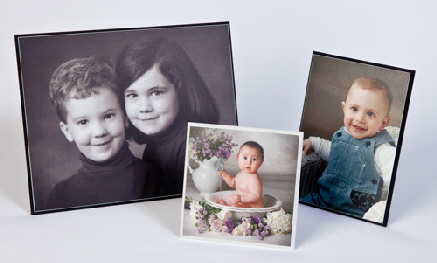 New! Custom Tabletop Acrylic Photo Easel for a 5x7 picture