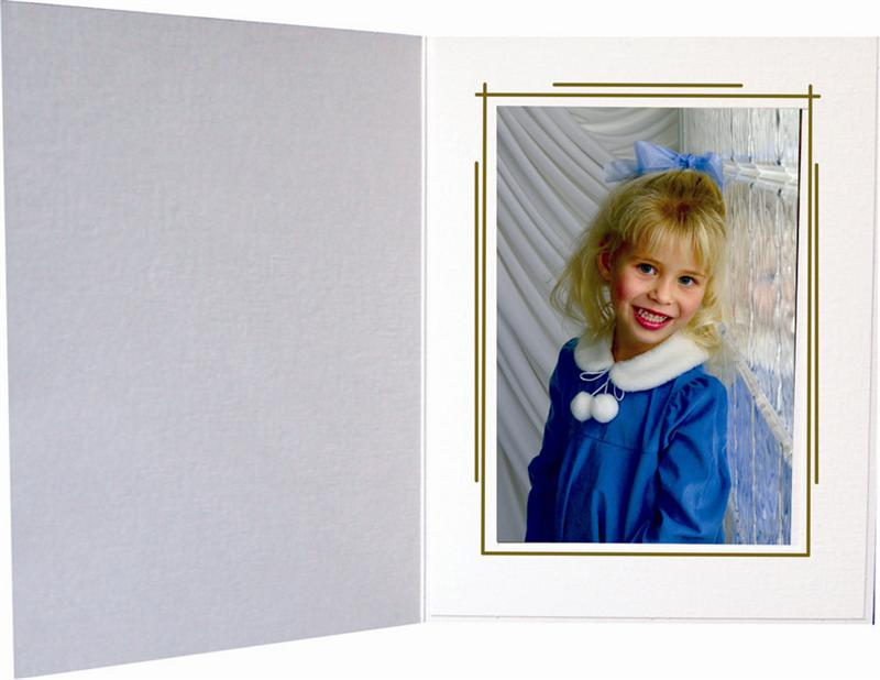 TAP The  Whitehouse Wht/gld Folder for a 4x6 picture (Pac...