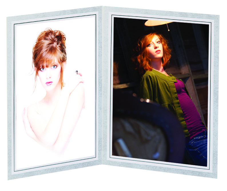 TAP PF-20 Light Gray Photo Folder for two 10x8 photos (pa...