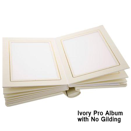 Pro Book Professional Ivory Slip In Wedding Album With Window Holds 8x10 Photos