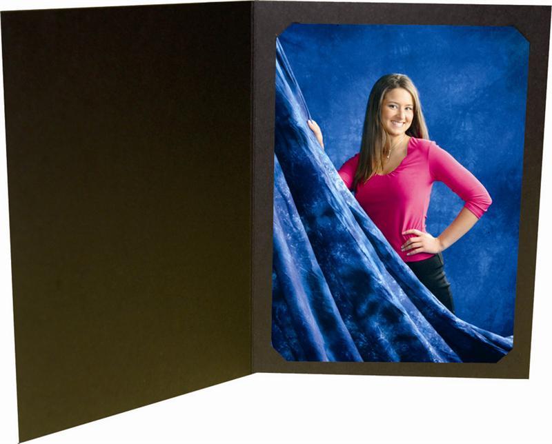 B. Oshrin Richard Black Cut Corner Photo Folder for a 8x1...