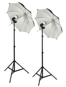 PBL COOL-FLO Two Lamp Fluorescent Umbrella Light Kit
