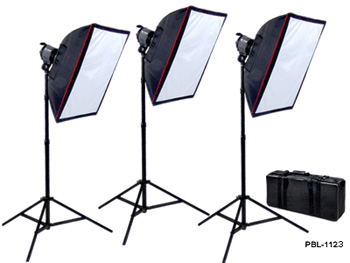 PBL Photography - vidoe halogen Lighting kit, 3000 wt.